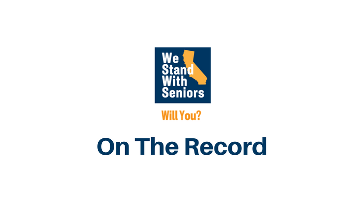 Now Is The Time. We #StandWithSeniors… Will You?