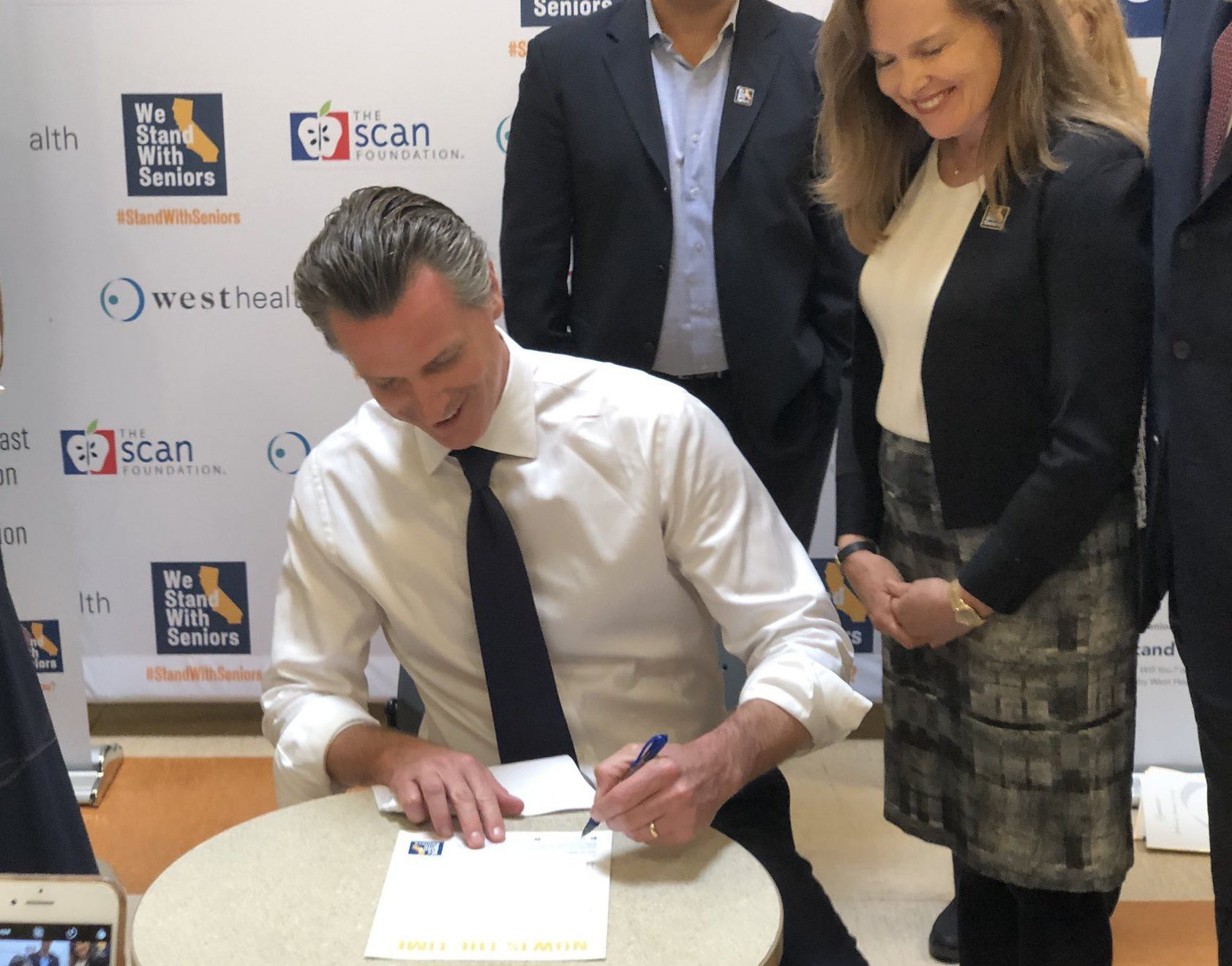 California gubernatorial candidate Gavin Newsom commits to a master plan for aging