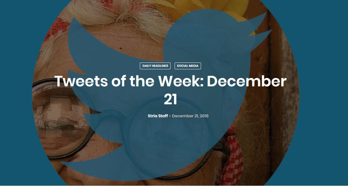 Tweets of the Week: December 21